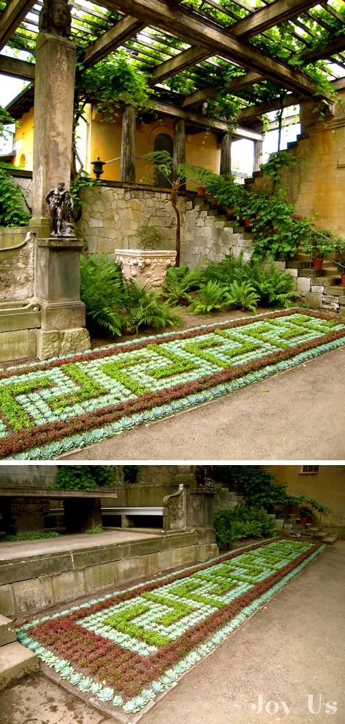 Greek inspired garden view.