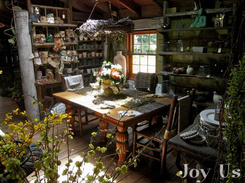 An inside view of Shakespeare's Garden shop.